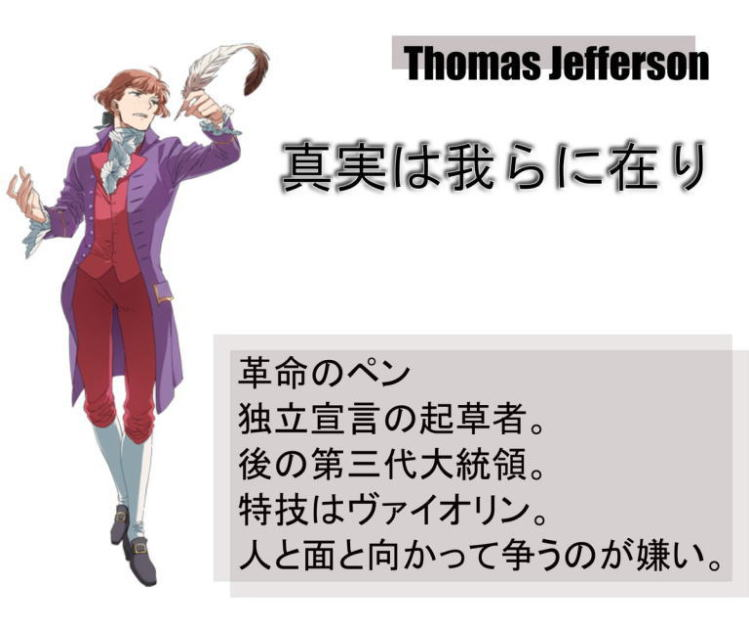 Founding Fathers Illustration Thomas Jefferson